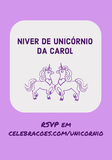 purple shades unicorn birthday cards  Cartão de aniversário