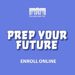 Purple Blue White Prep Your Future Instagram Square  College