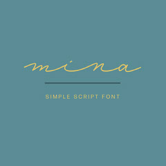 Teal and Yellow Handwriting Font Logo Brand Square Graphic Teal