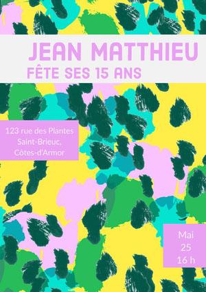 Jean Matthieu  Invitation à une fête