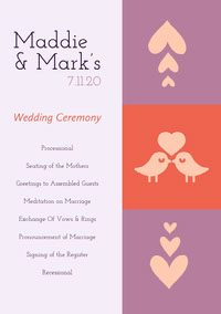 Maddie & Mark's Wedding Program