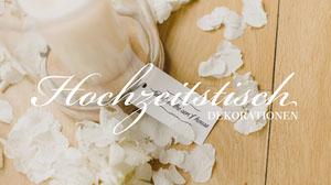 Hochzeitstisch YouTube-Banner