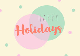 Light Toned, Pastel Color, Happy Holidays Card jeff-test-5
