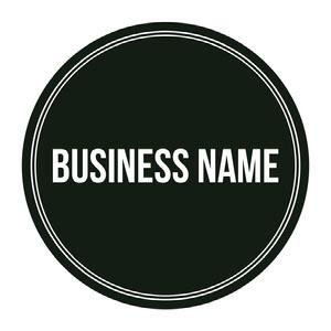 Black and White Circular Business Logo Fire Department Logo