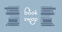 Blue and White Book Swap Facebook Post Book Cover
