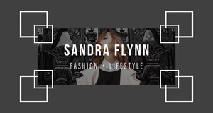 Black and White Fashion and Lifestyle Blog Banner Banner