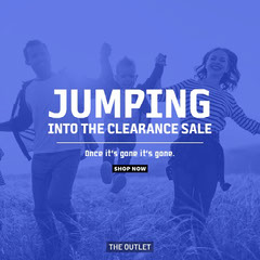 blue white clearance sale instagram square  Shopping