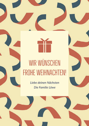 Wir wünschen Frohe Weihnachten! Weihnachtskarte