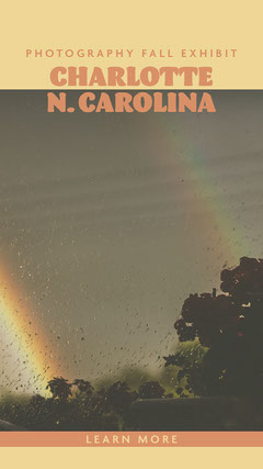 Photography Exhibit Instagram Story Ad with Rainbow Rainbow