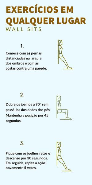 EXERCÍCIOS EM <BR>QUALQUER LUGAR Infográficos