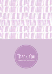 Violet and White Thank You Card Takkekort
