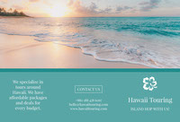 Green With Sunset Hawaii Touring Brochure Brochure
