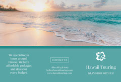 Green With Sunset Hawaii Touring Brochure Agency