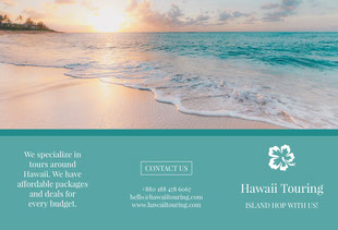 Green With Sunset Hawaii Touring Brochure Folleto