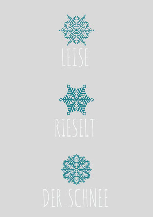 LEISE<BR>RIESELT<BR>DER SCHNEE Weihnachtskarte