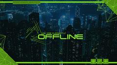 Green #DangerBat07 Offline Twitch Overlay 16:9 Neon