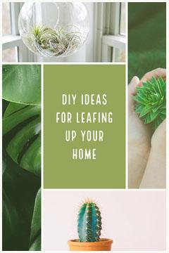 Green Cold Toned DIY Decoration Pinterest  Cactus