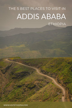 Ethiopia Travel and Tourism Pinterest Ad with Scenic Landscape Travel Agency