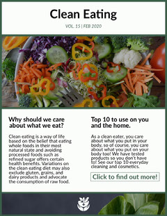 clean eating newsletter Health Posters