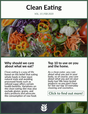 clean eating newsletter Newsletter