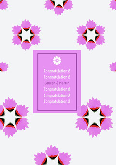 Pink Floral Congratulations Card Flowers
