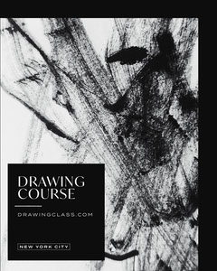 Black and White Abstract Drawing Classes Flyer Educational Course