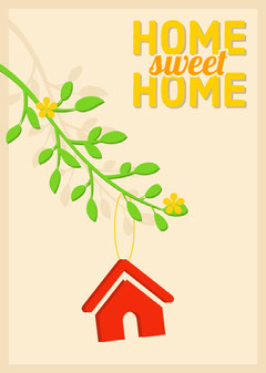 Illustrated New Home Congratulations Card Sweet Home