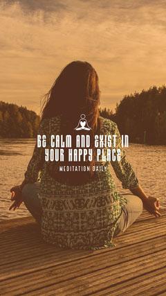 Meditation Daily Happy Place Pond IG Story Lake