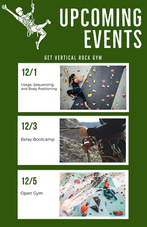 Green Simple Event Calendar Event Calendar