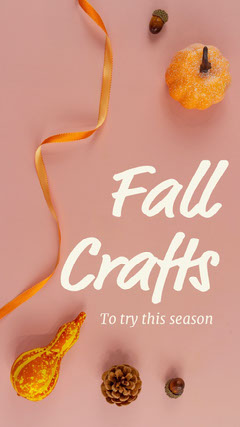 Pink Fall Crafts Instagram Story Fall