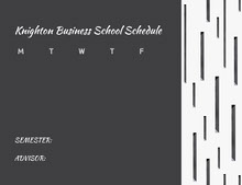 Knighton Business School Schedule 行程表