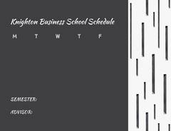 Knighton Business School Schedule College