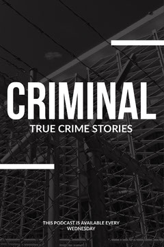 Black and White True Crime Stories Podcast Ad Instagram Story Construction