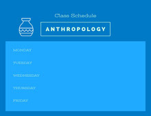 Blue and Navy Blue Empty Schedule Class Schedule