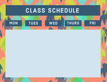 Multicolored Weekly School Classs Schedule 일정