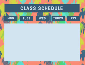 Multicolored Weekly School Classs Schedule Study Helpers