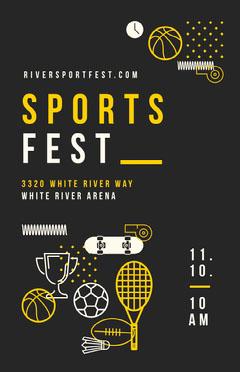 Poster Sports Fest Festival