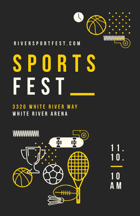 Poster Sports Fest Folleto de invitación a evento