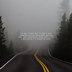 Grey, Dark, Mysterious Quote Instagram Post Forest