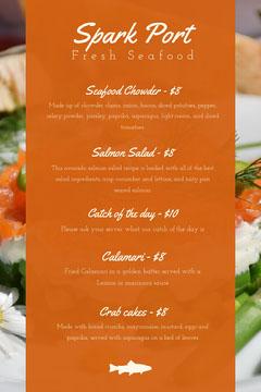 Orange Seafood Restaurant Menu Restaurants