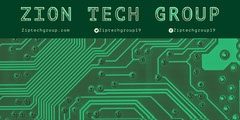 Green Technology Business LinkedIn Banner with Circuit Board Tech