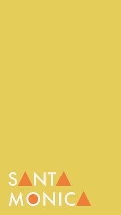 Yellow Santa Monica California Snapchat Story Geofilter California