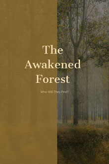 Brown and White The Awakened Forest Book Cover Couverture de livre