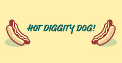 Yellow Hot Dog Facebook Post Graphic Food