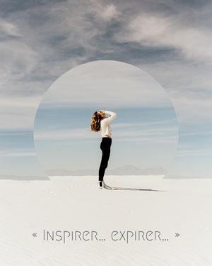 Blue Inspire.. Expire.. Instagram Portrait  Texte sur les photos