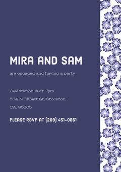 White and Violet Party Invitation Party
