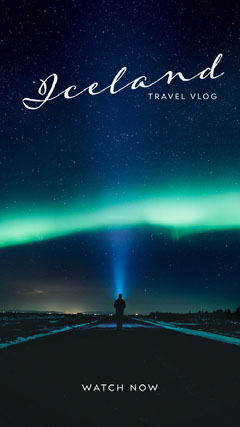iceland travel vblog instagram story Night