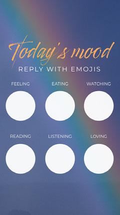 Blue Rainbow Today's Mood Instagram Story  Rainbow