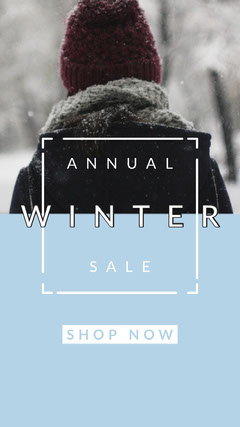 Blue Snow Winter Sale Instagram Story Instagram Post