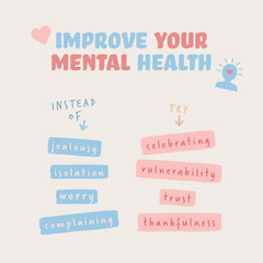 Improve your mental health instagram square Health Posters